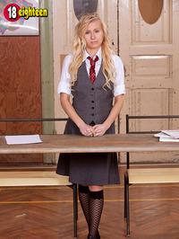 Sexy Blonde Schoolgirl 00