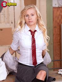 Sexy Blonde Schoolgirl 02