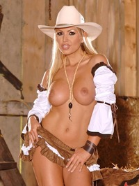 Anette Dawn In Her Sexy CowGirl Dress 14