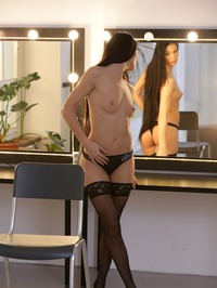 Beautiful Raven Haired Babe Lovenia Lux In Sexy Stockings 14