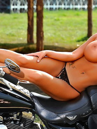 Olesya Malibu As Naked Biker Chick 07