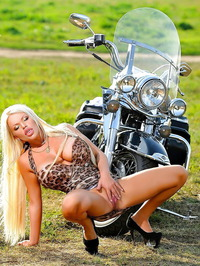 Olesya Malibu As Naked Biker Chick 17