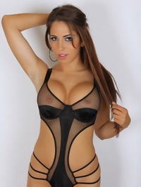 Amber J In A Very Skimpy Mesh Outfit 04