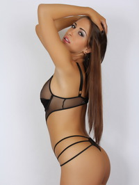 Amber J In A Very Skimpy Mesh Outfit 06
