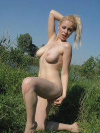 Busty Chick In Nature 13