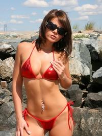 Ann Angel Sexy Red Bikini Off 02