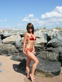 Ann Angel Sexy Red Bikini Off 03