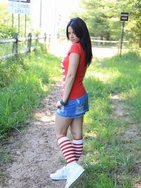 Ann Angel Takes Her Tight Denim Skirt Off 04