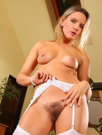 Regina Spreading And Showing Hairy Pussy 12