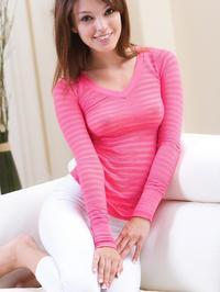 Ashley Doll Lifts Her Pink Shirt 04