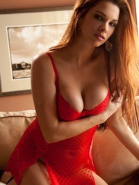 Sabrina Maree In Red Lingerie 01