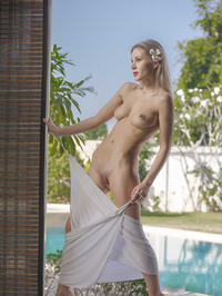 Hot Ass Hottie Strip By The Pool 05