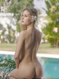 Hot Ass Hottie Strip By The Pool 10