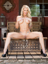 Busty MILF Synthia Fixx Naked On The Terrace 11