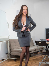 Hot Secretary Mea Melone Undressing In The Office 00