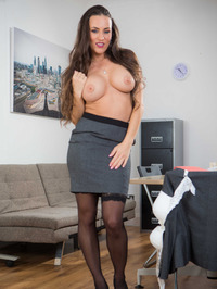 Hot Secretary Mea Melone Undressing In The Office 02