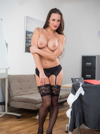Hot Secretary Mea Melone Undressing In The Office 05