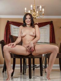 Cute Brunette Beauty Violet Starr Gets Naked 14
