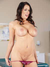 Big Boobed MILF Reagan Foxx Stripping Naked 11
