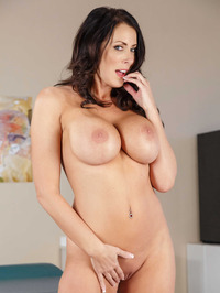 Big Boobed MILF Reagan Foxx Stripping Naked 13