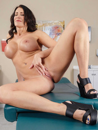 Big Boobed MILF Reagan Foxx Stripping Naked 17