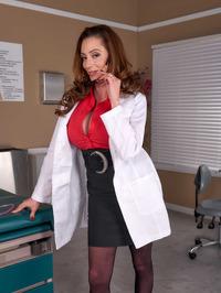 Big Boobed Doctor Ariella Ferrera Strips And Spreads 01