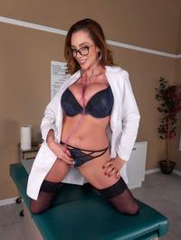 Big Boobed Doctor Ariella Ferrera Strips And Spreads 02