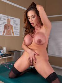Big Boobed Doctor Ariella Ferrera Strips And Spreads 11
