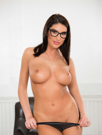 Busty And Booty August Ames Strips To Naked 01