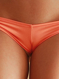 Catie Minx In Orange Booty Shorts 05