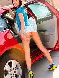 Catie Minx Misbehaving In The Backseat 02