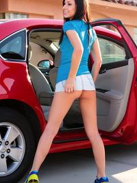 Catie Minx Misbehaving In The Backseat 08