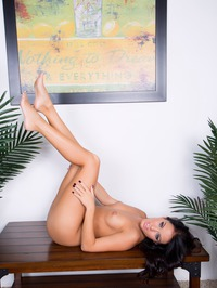 Megan Rain Spreading Legs Wide 08