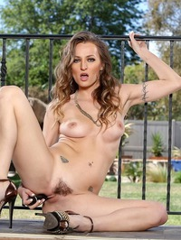 Natasha Starr Undressing And Dildoing On The Balcony 12