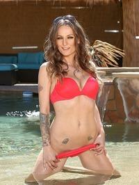 Natasha Starr Strips Off Her Sexy Bikini In The Pool 04
