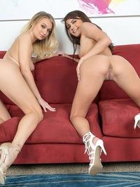 Hot Lesbians Natalia Starr And Adria Rae 03