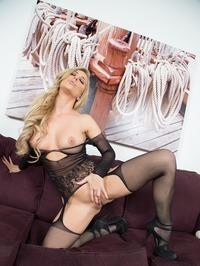 Cherie Deville One Hot Black Stocking 17