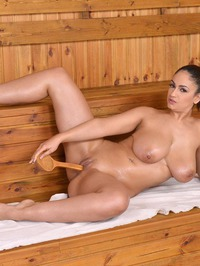 Big Breasted Sandra Milka Plays With Her Pussy 11