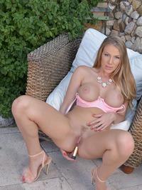 Danielle Maye Dildo Fuck In Pink Undies Outdoor 19