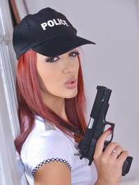 Aylin Diamond Is A Sexy Officer 01