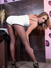 Ivana Sugar Poses In Fishnet Pantyhose 07