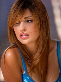 Jade Couture Strips Her Blue Bikini 00