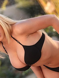 Kagney Linn Karter In Black Bikini 09