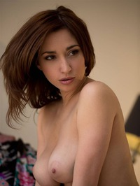 Shay Laren Strips Off Her Sexy Teal Lingerie 01
