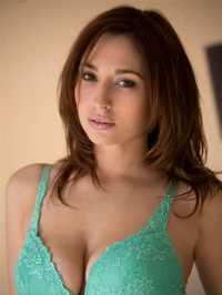 Shay Laren Strips Off Her Sexy Teal Lingerie 05