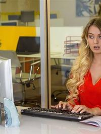 Natalia Starr Strips And Masturbates At Work 00