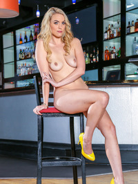 Keira Nicole Strips Naked At The Bar 13