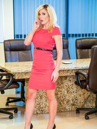 Busty Blonde Parker Swayze Strips 00