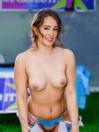 Smiley Brunette Cutie Mila Marx Undressing 06