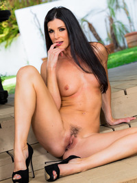 Dark Haired Beauty India Summer Gets Nude Outside 14